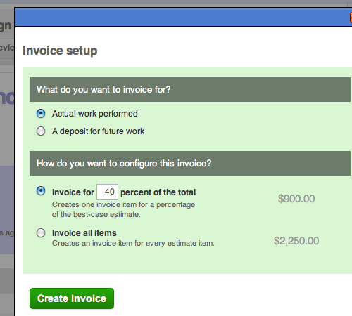 Deposit And Percentage Invoicing Cashboard - Best way to create invoices