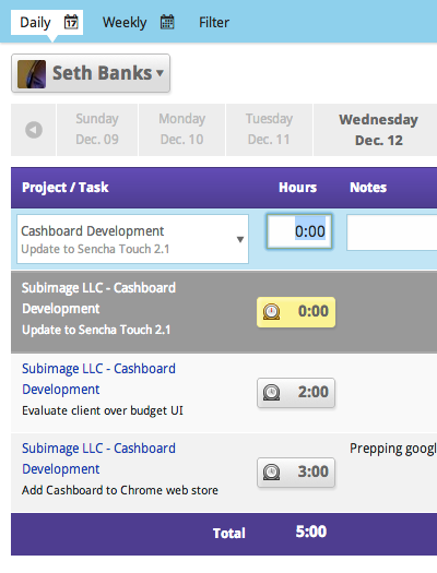 employee timesheet software cashboard